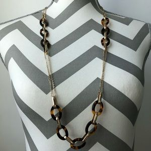 Fashion Tortoise Link Gold Tone Chain Necklace